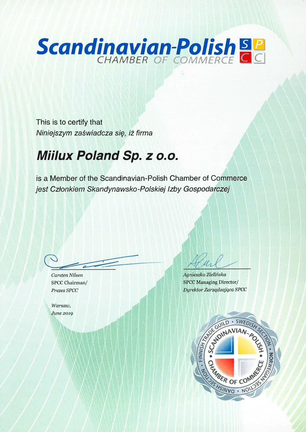 certyfikat miilux